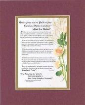 Personalized Touching and Heartfelt Poem for Mothers - What Is a Mother? Poem on - $19.75