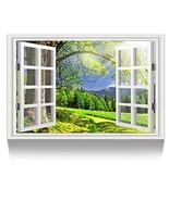 Kreative Arts - Canvas Print Wall Art Window Frame Sunlight Over The Hil... - $39.76