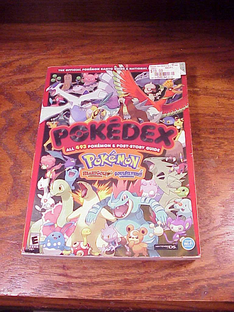 Pokemon guide book soul silver pokedex