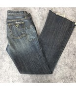 Guess Womens Jeans Premium Studs Floral Straight Leg Distressed Stretch ... - $22.93
