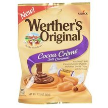Candy Cocoa Creme Soft Caramels Werthers Original 2.22 Oz Peg, Case Pack Of 12 - $29.99