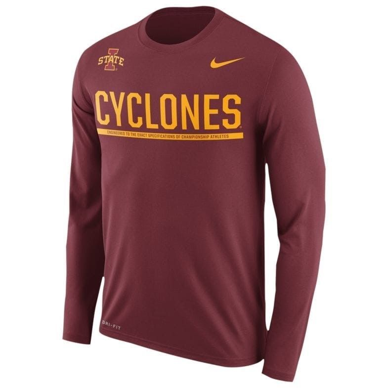 57aa602d 57. 57. Previous. Iowa State Cyclones Men's Nike Sideline DRI-FIT Long  Sleeve T-Shirt ...