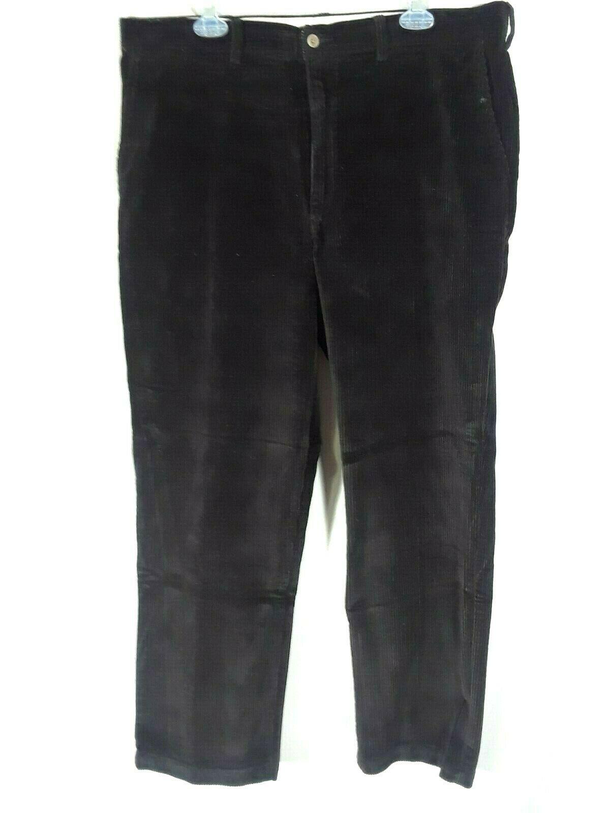 Savane Quality Mens Pants Black Corduroy 38/30 (Z)