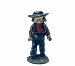 Cast Iron figure vtg toy Amish Mennonite church Jakob Ammann gift ww2 wwii boy 4 - $19.19