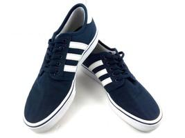 Adidas Boys Sneakers Seeley Grade School Collegiate Navy/White BY3840 Sz... - $38.43
