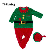2017 Baby Boy Clothes Christmas Costume Santa Cosplay Long Sleeve Romper... - $35.51