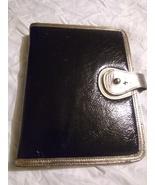 Franklin Covey Gals Classic black sim leather planner binder - $15.00