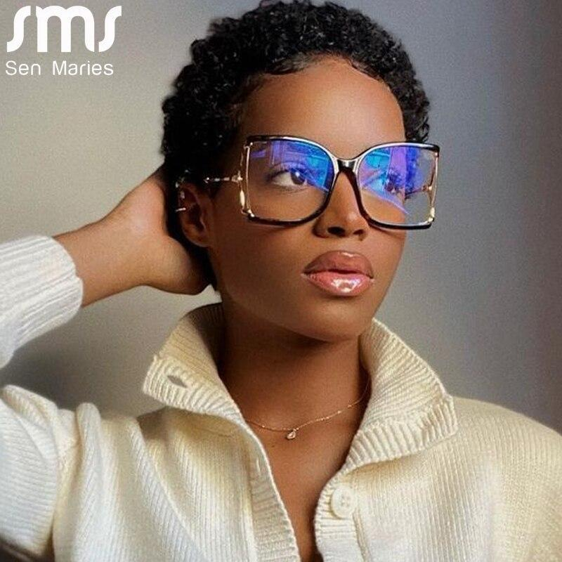 Me women men square glasses clear lens sunglasses frame fashion spectacles vintage eyewear metal