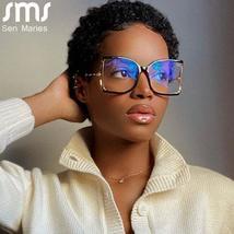 Oversized Eyeglasses Frame Women Men Square Glasses Clear Lens Sunglasses Frame  image 1