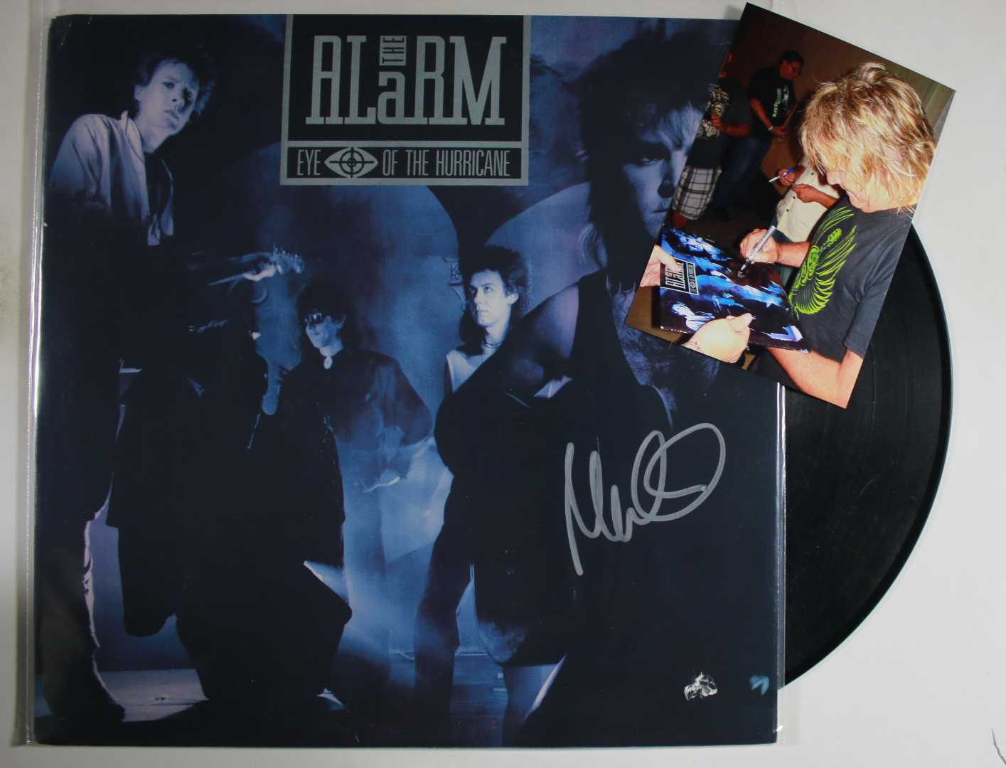 "Primary image for Mike Peters Signed Autographed ""The Alarm"" Record Album w/ Proof Photo"