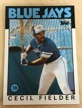 1986 Topps #386 Cecil Fielder RC Rookie Card > Toronto Blue Jays - $0.98