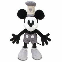Disney Deluxe Steamboat Mickey Mouse Plush Doll Gray Japan - $71.98