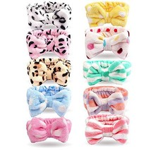 Canitor 10 Pack Spa Headbands Towel Headbands for Washing Face Bow Headbands for