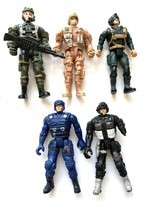 Lanard Lot Special Forces Military Action Figures Heroes Men 5 Army - $14.84