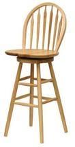 Wooden Swivel Bar Stools 30 Inches With Back Kitchen Patio - $143.31