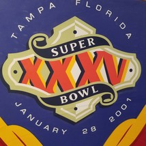 Super Bowl XXXV Seat Cushion Giants Ravens Tampa Florida 2001 Football S... - $15.00