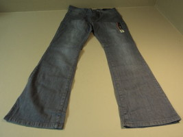 Faded Glory Boot Cut Jeans Cotton Spandex Female Kids 12A Average Grays Solid - $18.46