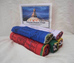 Tibetan Prayer Flag Cotton Fine Print  ,NEPAL - $15.84