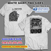 Pop Evil 2018 Music Words Tour Nice Shirt P1,WHITE Color,Sizes S-3XL Radio - $11.00+
