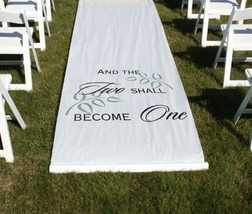 Two Shall Become One Aisle Runner - $43.35