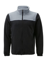 Men's Full Zip-Up Two Tone Solid Warm Polar Fleece Soft Collared Sweater Jacket image 2