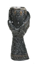 "Medieval Knight Lions Heart Gauntlet Style Wine Goblet 9"" H - $20.94"