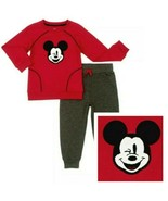 Mickey Mouse Toddler Boys  Red Top Two-Piece Jogger Pant Set Size  4T - $19.95