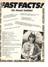 Debbie Gibson teen magazine pinup clipping fast facts all about Debbie