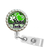 Green X-Ray Tech Retractable Reel ID Name Tag Badge Holder - 1.14 - $10.00