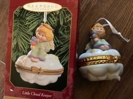 HALLMARK KEEPSAKE CHRISTMAS ORNAMENT LITTLE CLOUD KEEPER TRINKET BOX 1999 - $9.36