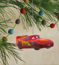 Hallmark Disney Pixar Cars Lightning McQueen Decoupage Christmas Ornament NWT image 4