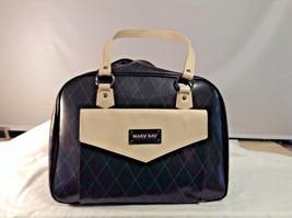 Mary Kay Consultant 16 x 12 x 5 Cream Black Bag Tote Purse - $15.48