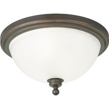 Progress Lighting P3312-20 2-Light Close-to-Ceiling Fixture with White Etched Gl - $126.68