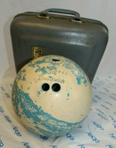 VINTAGE BRUNSWICK LADIES BLUE/WHITE BOWLING BALL - $18.54