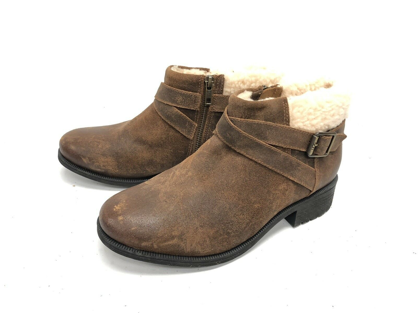 UGG Australia BENSON Buckle Sheepskin Ankle Booties 1095151 Chipmunk Waterproof image 8