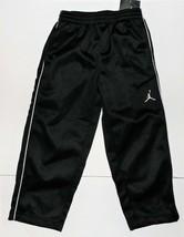 Air Jordan Nike Boys Athletic Pants Black with White Stripes Sizes 4 and... - $28.56