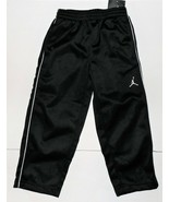 Air Jordan Nike Boys Athletic Pants Black with White Stripes Sizes 4 and... - $28.56