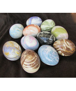 11 Easter eggs hollow ceramic various colors swirl patterns - $18.00