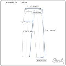 Men's Callaway Golf Pants, Size 34, Beige image 2