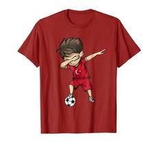 Dad Shirts - Dabbing Soccer Boy Turkey Jersey Shirt - Turks Football Gift Men - $19.95+