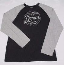 Denim & Supply Ralph Lauren Eagle-Graphic Baseball Tee Grey Large - $29.69