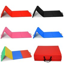 "2""x2'x8' Folding Panel Gymnastics Gym Folding Yoga Aerobic Mat Pad Light... - $45.99"