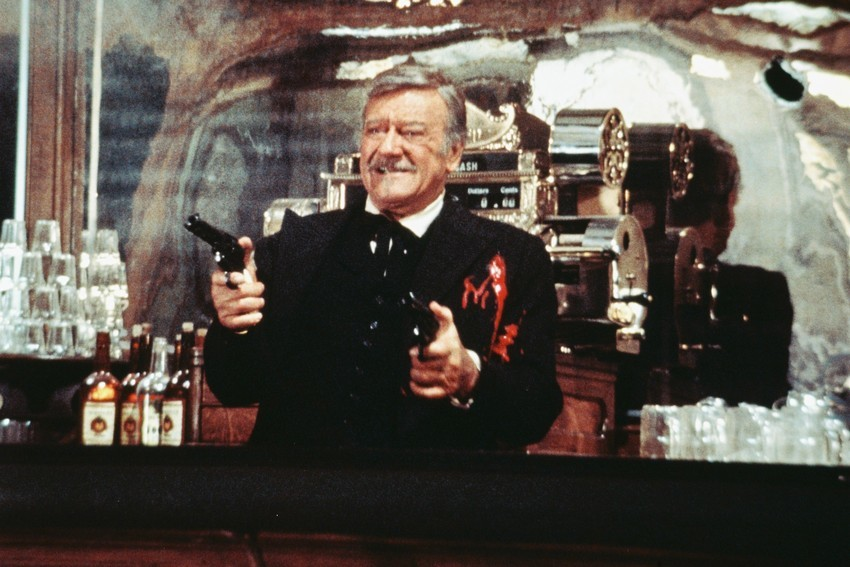 Primary image for John Wayne in The Shootist final shoot out scene 18x24 Poster