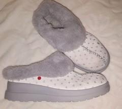 UGG Australia I LOVE UGG Gray Sheepskin Slip on Shoes Bootie Mules Women Girl 5 - $27.79