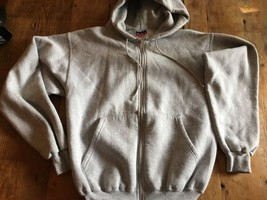 Hooded Hoodie Sweatshirt  by Champion 50/50 Blend Size Small Light Grey ... - $10.26