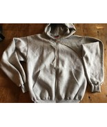 Hooded Hoodie Sweatshirt  by Champion 50/50 Blend Size Small Light Grey ... - $11.40