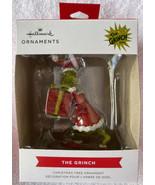 HALLMARK 2021 DR SEUSS THE GRINCH STEALING PRESENT CHRISTMAS TREE ORNAME... - $20.99