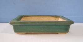 Vintage Lingnan ceramic flower bonsai pot jade green crackle glazed reti... - ₹2,447.93 INR