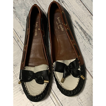 Kate spade leather boat bow flat moccasin - $48.51