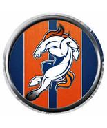 Stripe Bucking Bronco Denver Broncos NFL Football 18MM - 20MM Snap Jewel... - $5.95